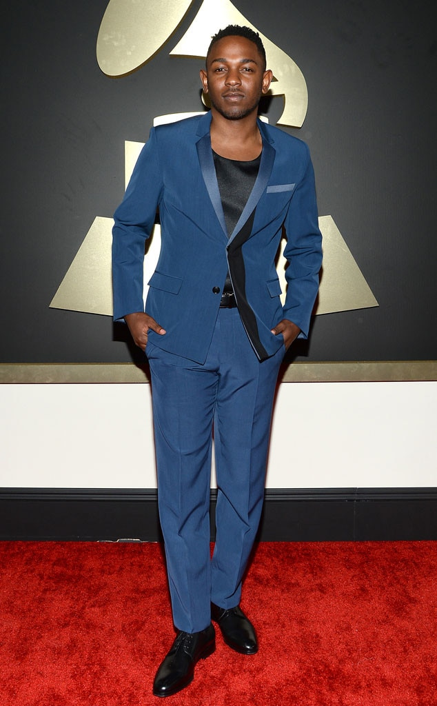 kendrick lamar from stylish men at the 2014 grammy awards