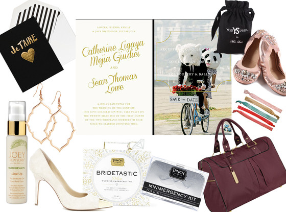 Catherine Giudici, Sean Lowe, Wedding Items Collage