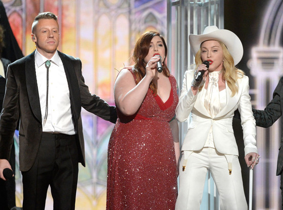 Macklemore, Mary Lambert, Madonna, Ryan Lewis, Grammy Awards