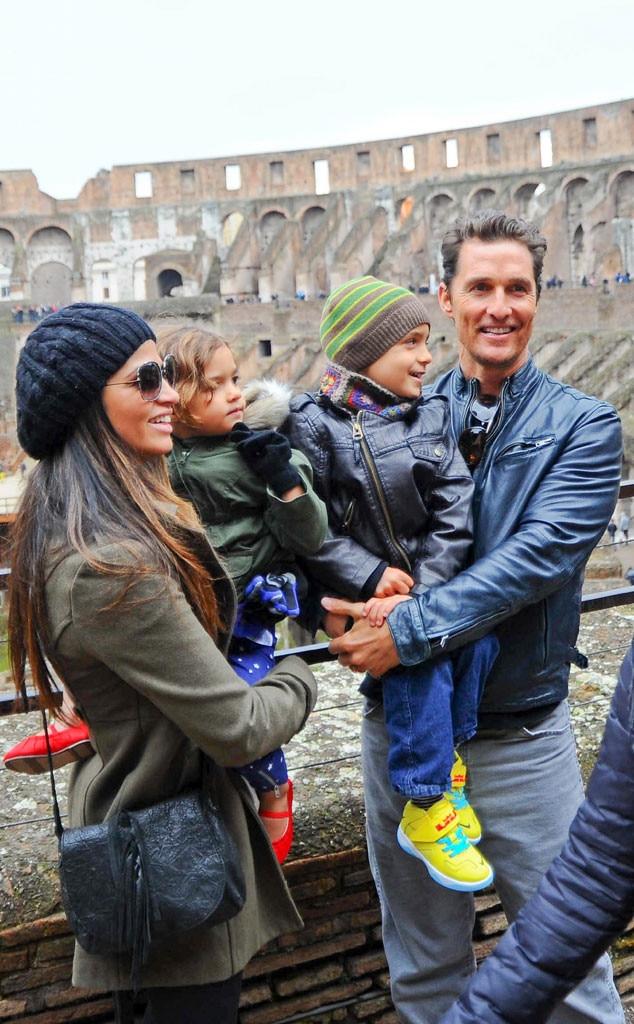 Matthew McConaughey, Camila Alves, Family, Italy