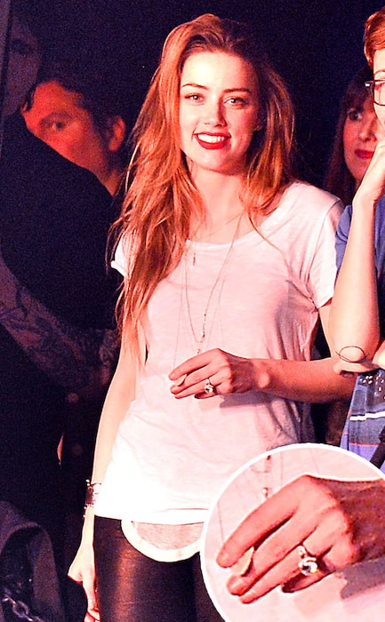 Amber Heard, Engagement Ring, Johnny Depp