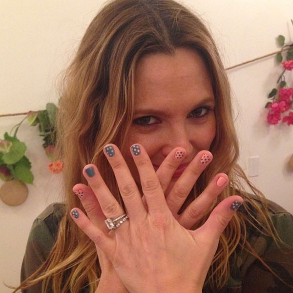 Drew Barrymore, Nails, Manicure