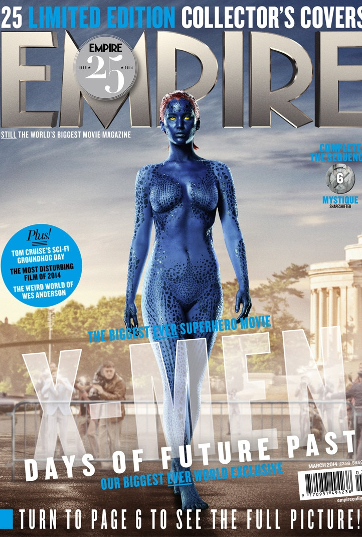 Jennifer Lawrence, X-Men, Empire Magazine