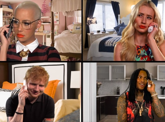 Ed Sheeran, Amber Rose, Iggy Azalea, Waka Flock Flame