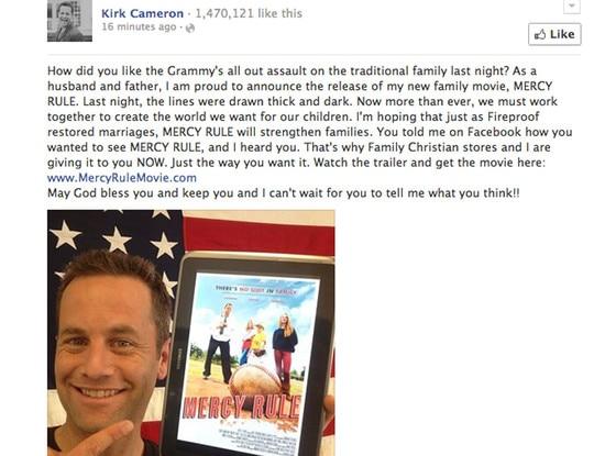 Kirk Cameron Facebook