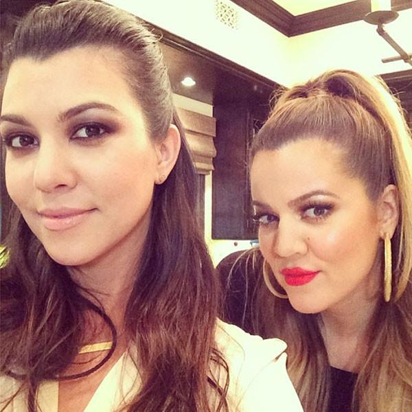 Kourtney Kardashian, Khloe Kardashian Instagram