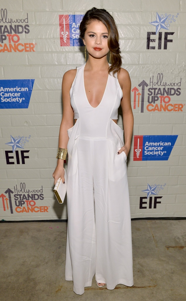 selena gomez from stars at stand up to cancer e news