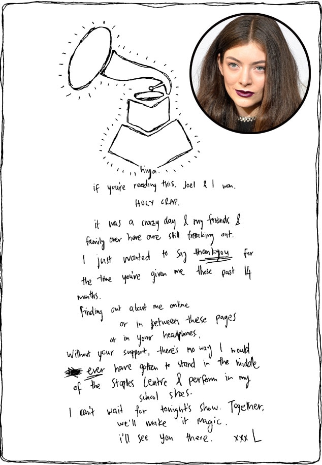 Lorde, Letter
