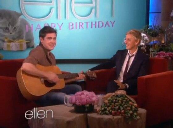 Zac Efron, Ellen Degeneres Show