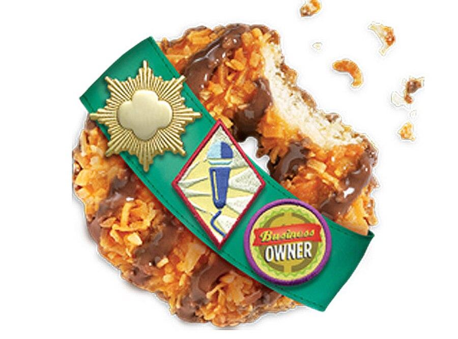 Girl Scout Cookies, Caramel deLites, Samoas