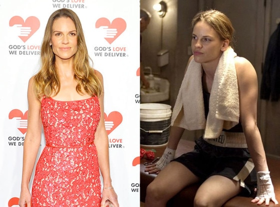Hilary Swank, Body Transformations