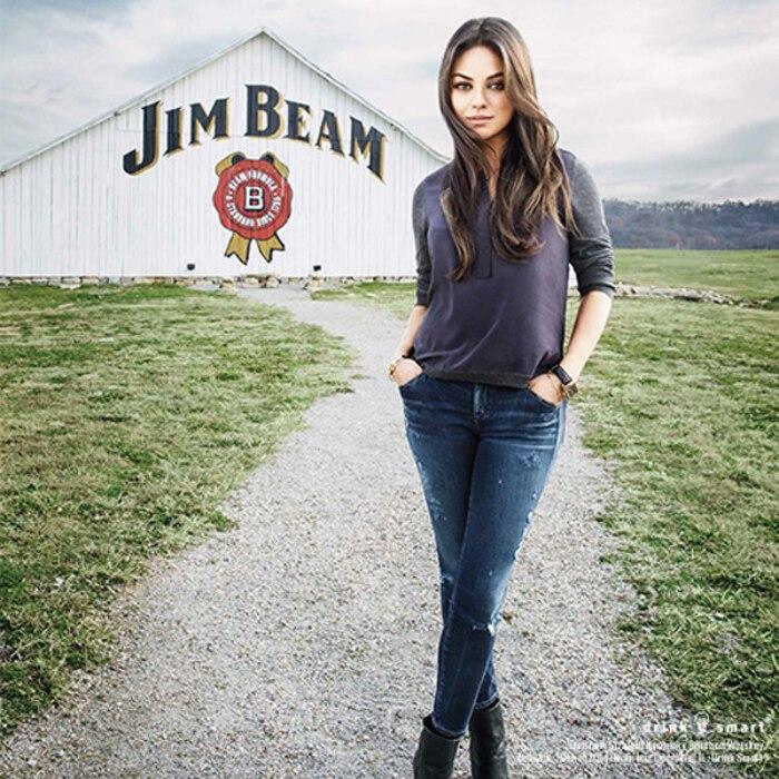 Mila Kunis, Jim Beam Commercial