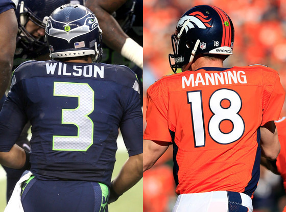 Russell Wilson, Peyton Manning, Super Bowl