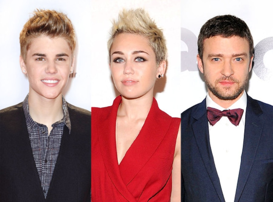 Justin Bieber, Miley Cyrus, Justin Timberlake