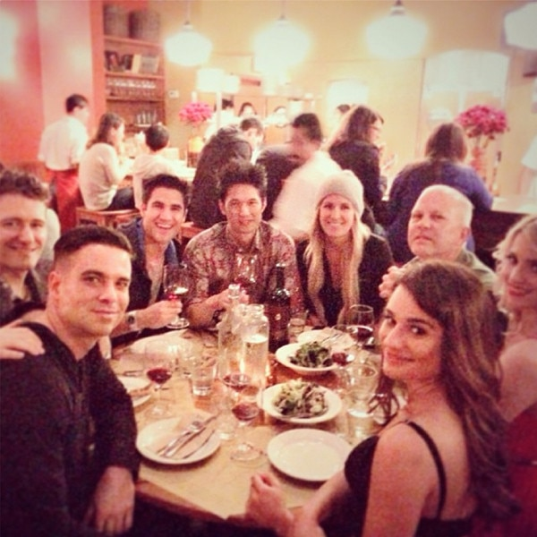 Glee's 100th Episode: Lea Michele and Dianna Agron Glam Up ...