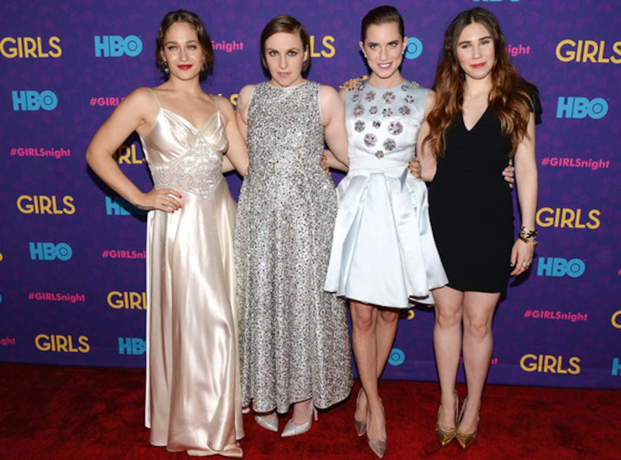 Jemima Kirke, Lena Dunham, Allison Williams, Zosia Mamet, Girls