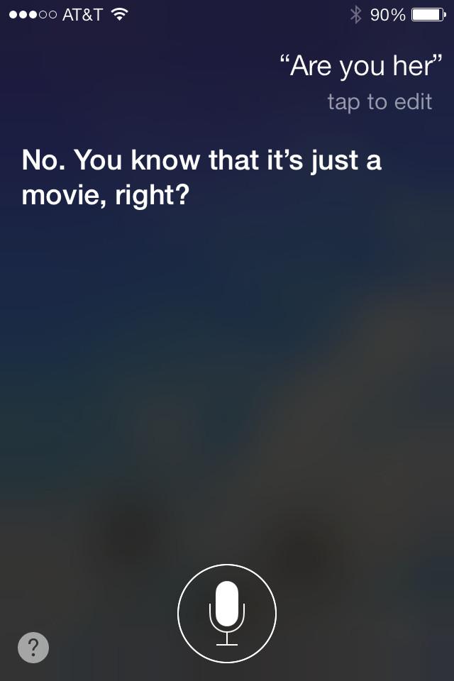 Siri, Her, iPhone