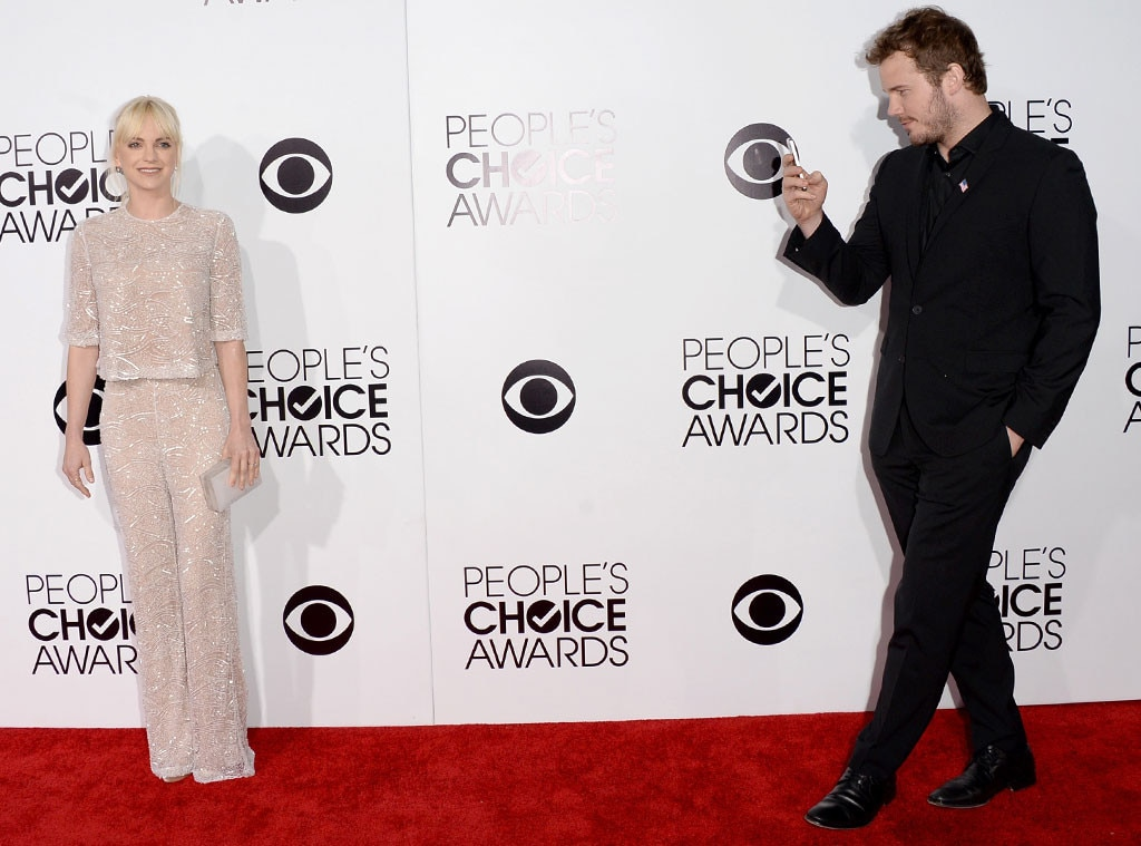 Anna faris chris pratt from 2014 peoples choice awards arrivals anna faris chris pratt from 2014 peoples choice awards arrivals e news junglespirit Image collections