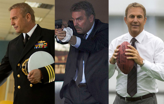 Kevin Costner, Jack Ryan: Shadow Recruit,  3 Days to Kill,  Draft Day