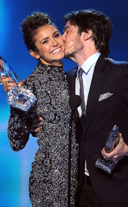 Nina dobrev breaks silence on ian somerhalders beautiful wedding nina dobrev ian somerhalder peoples choice awards junglespirit Images