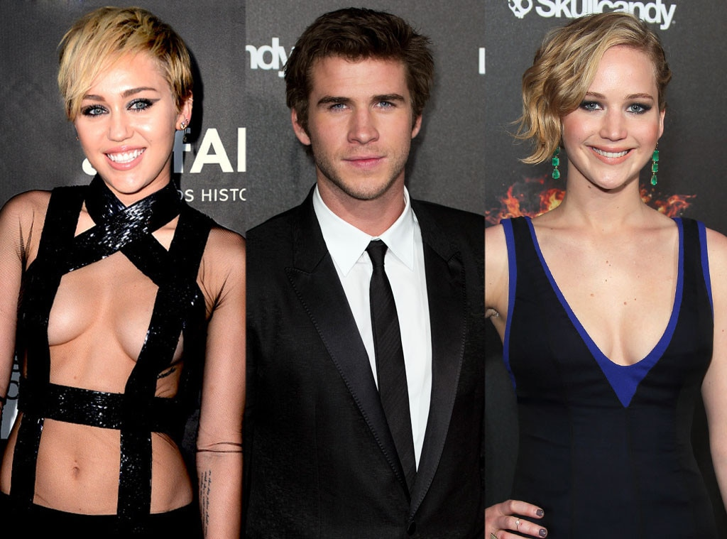 Miley Cyrus, Liam Hemsworth, Jennifer Lawrence