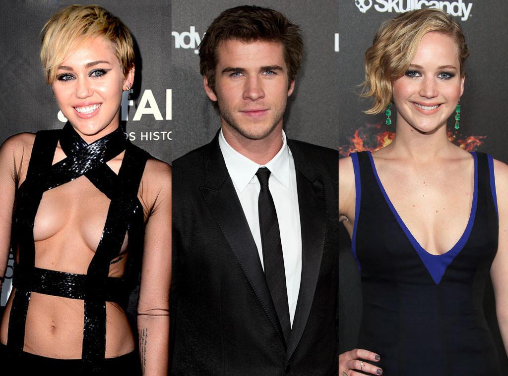 Miley Cyrus, Liam Hemsworth, Jennifer Lawrence
