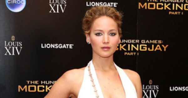 Jennifer Lawrence Flaunts Major Cleavage and Leg During ...