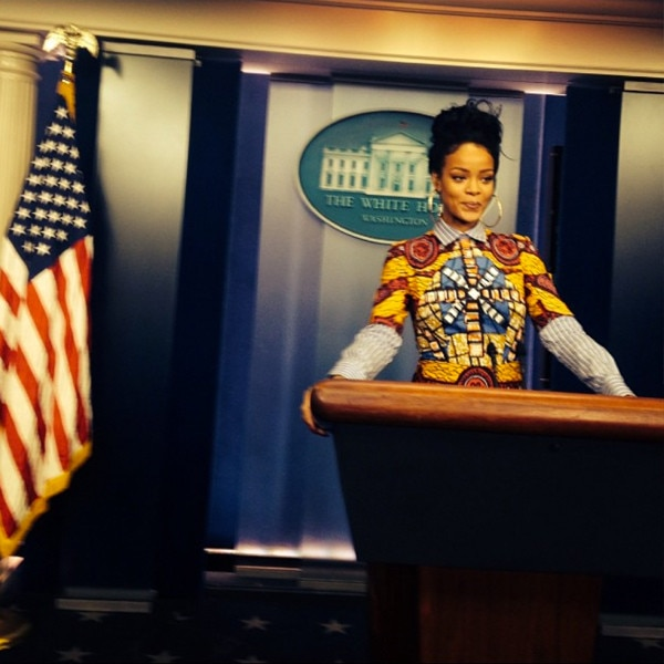 Rihanna, Instagram, White House