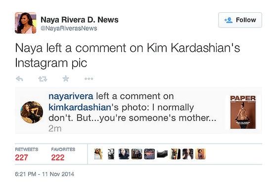 Naya Rivera, Twitter