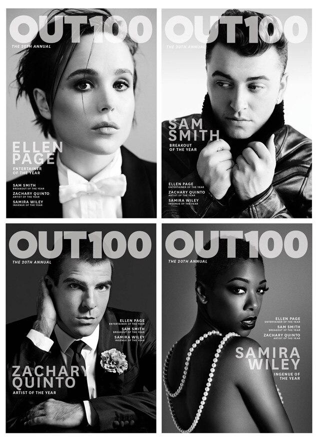 Ellen Page, Zachary Quinto, Sam Smith, Samira Wiley, Out Magazine