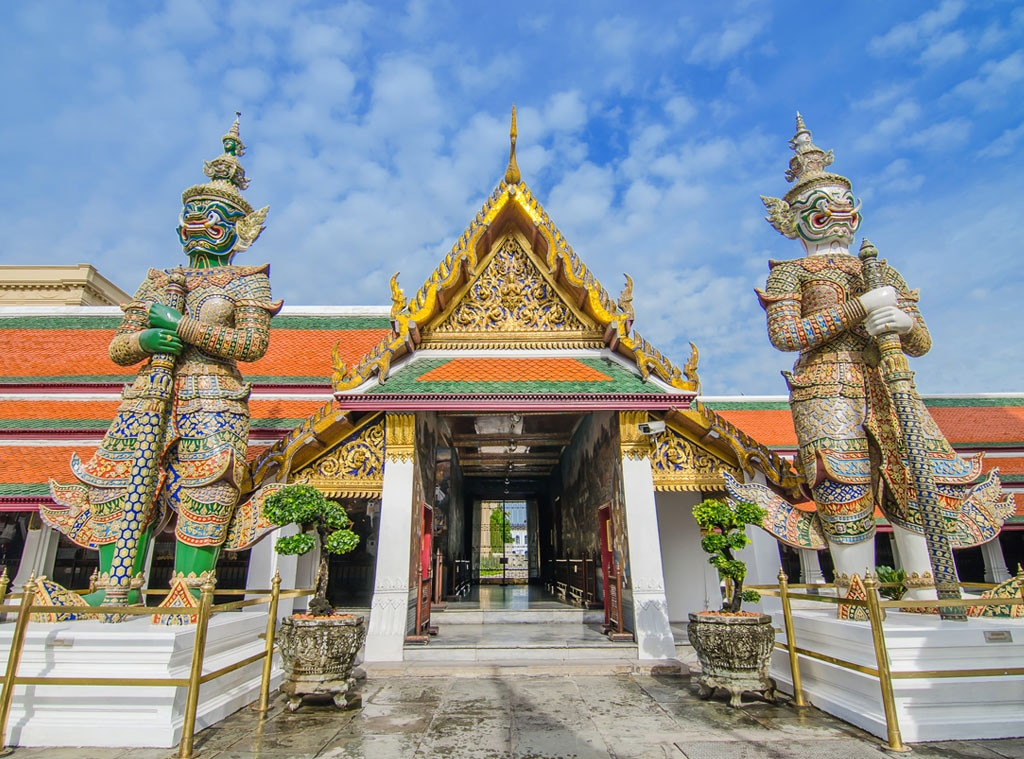 Temple of the Emerald Buddha, Wat Phra Kaew, Grand Palace Bangkok Thailand