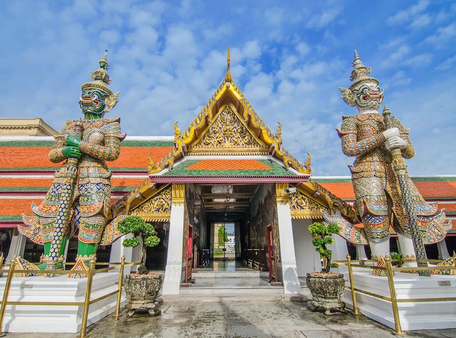 Temple of the Emerald Buddha, Wat Phra Kaew, Grand Palace Bangkok Thailand