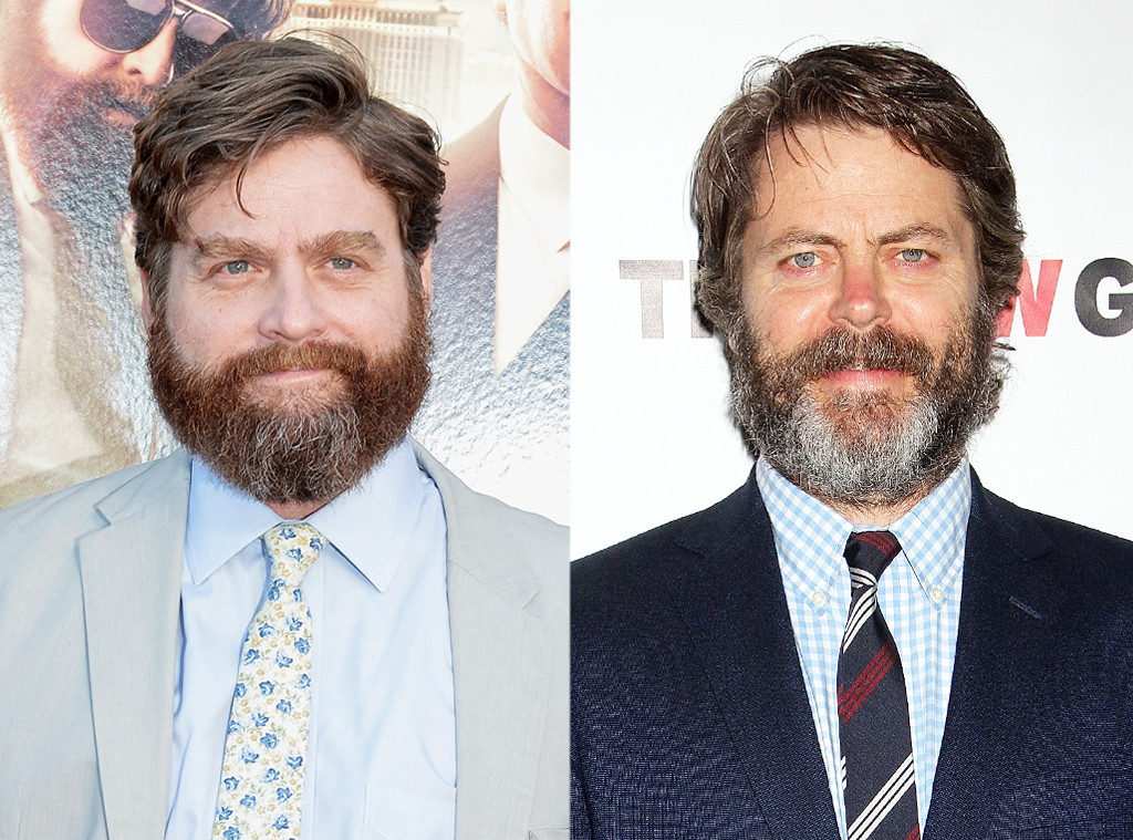 Zach Galifianakis Amp Nick Offerman From Celebrity Look