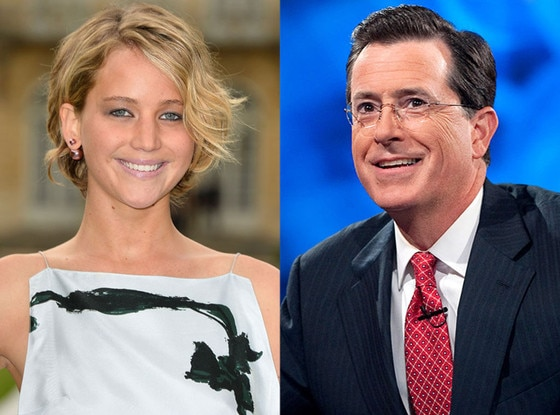 Jennifer Lawrence, Stephen Colbert