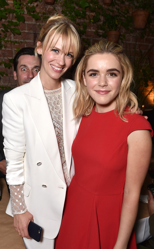 January Jones, Kiernan Shipka, Jon Hamm, Photobomb