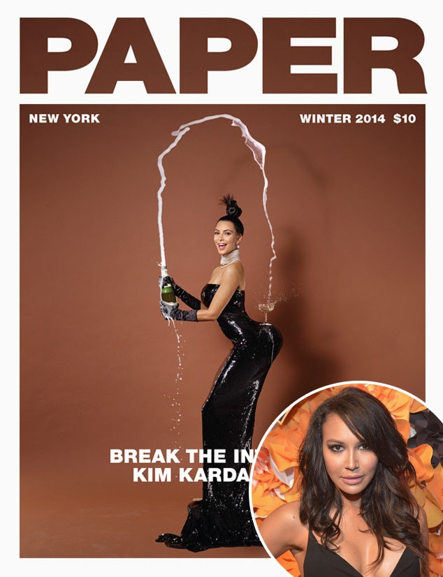 Kim Kardashian, Paper Magazine, Naya Rivera