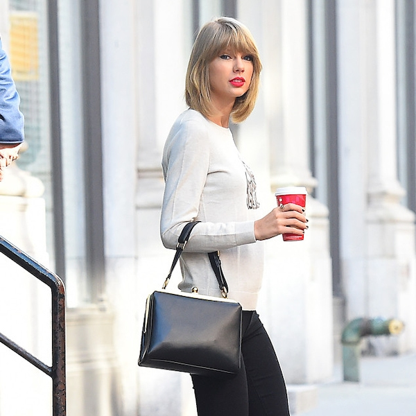Morning coffee from taylor swift 39 s street style e news for Taylor swift coffee shop