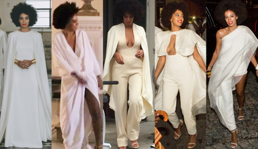 All 5 Of Solange Knowles Wedding Day Looks Which Is Your Favorite