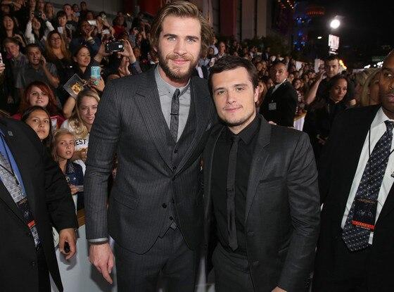 Liam Hemsworth, Josh Hutcherson, Mockingjay Premiere