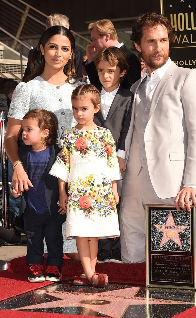 Matthew McConaughey, Camila Alves, Levi McConaughey, Livingston McConaughey, Vida McConaughey