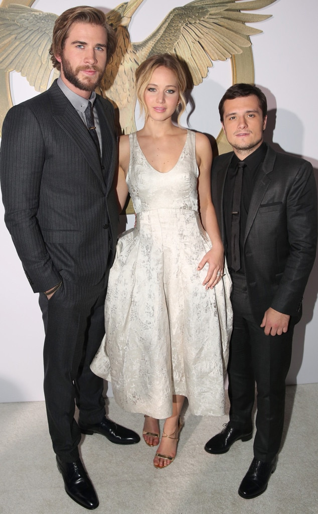 Liam Hemsworth, Jennifer Lawrence, Josh Hutcherson, Mockingjay Premiere