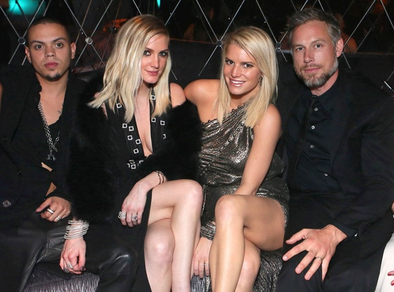 Evan Ross, Ashlee Simpson, Jessica Simpson, Eric Johnson