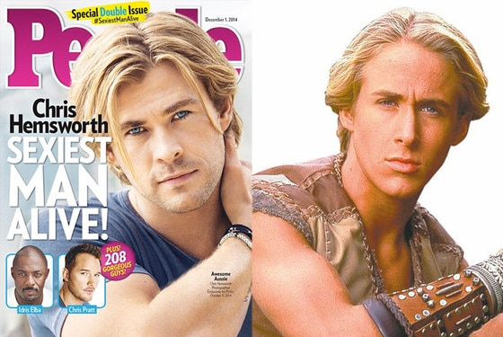 Chris Hemsworth, People Magazine, 90's Haircuts