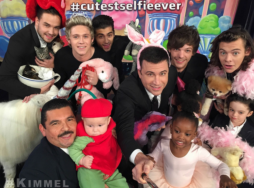 Cutest Selfie Ever, One Direction, Jimmy Kimmel