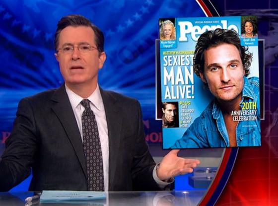Stephen Colbert, Matthew McConaughey