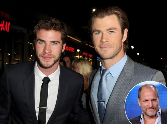 Liam Hemsworth, Chris Hemsworth, Woody Harrelson