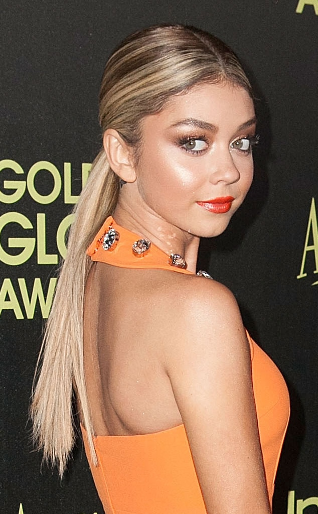 Sarah Hyland, Golden Globe, Hair