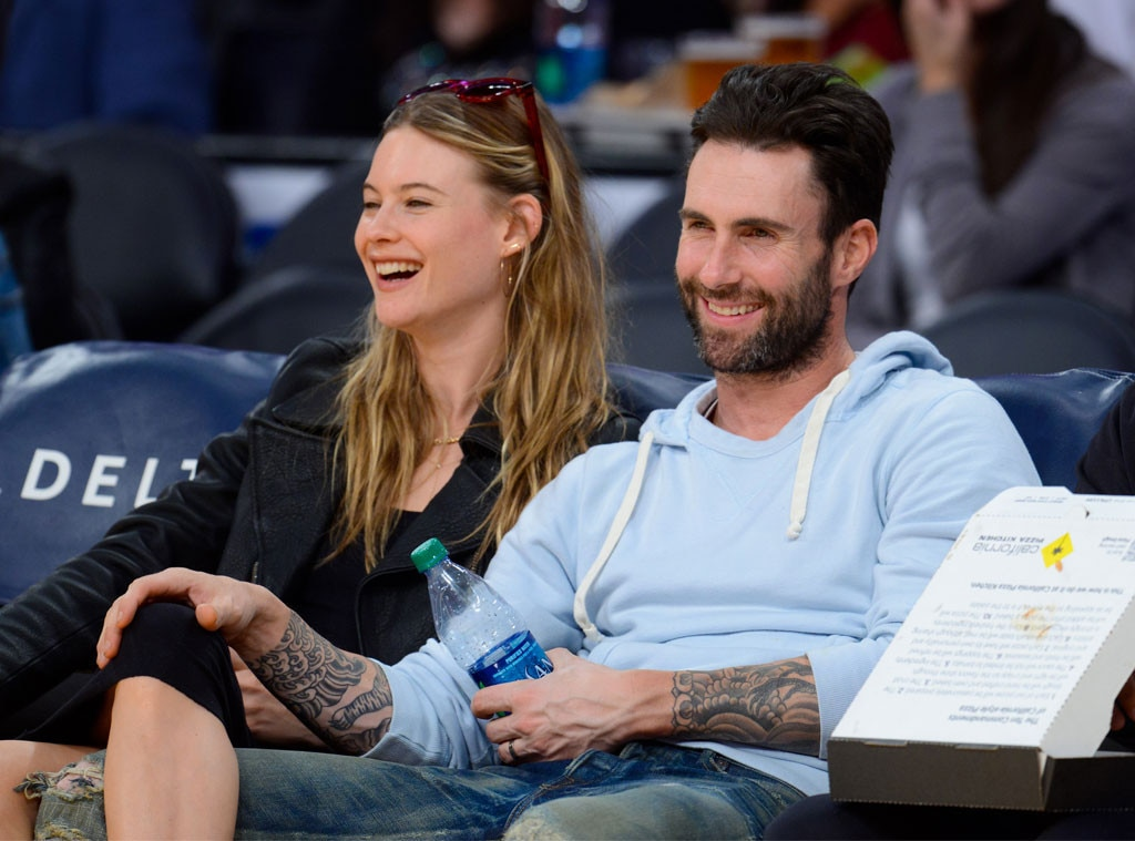 Adam Levine And Behati Prinsloo Pack On The PDA At L.A