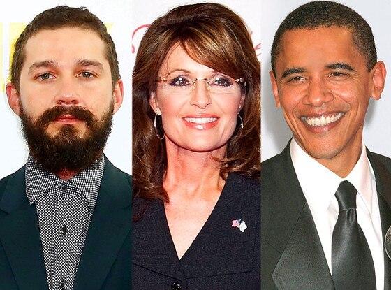 Shia Labeouf, Sarah Palin, Barack Obama, Paula Deen