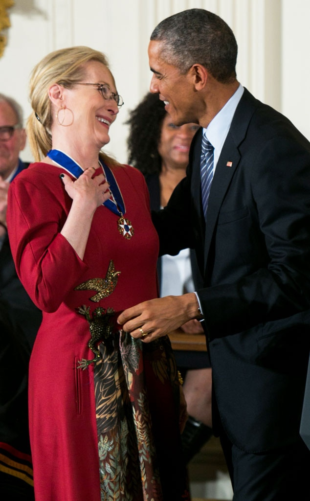 Barack Obama, Meryl Streep
